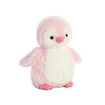 destination nation small pink penguin stuffed animal by aurora