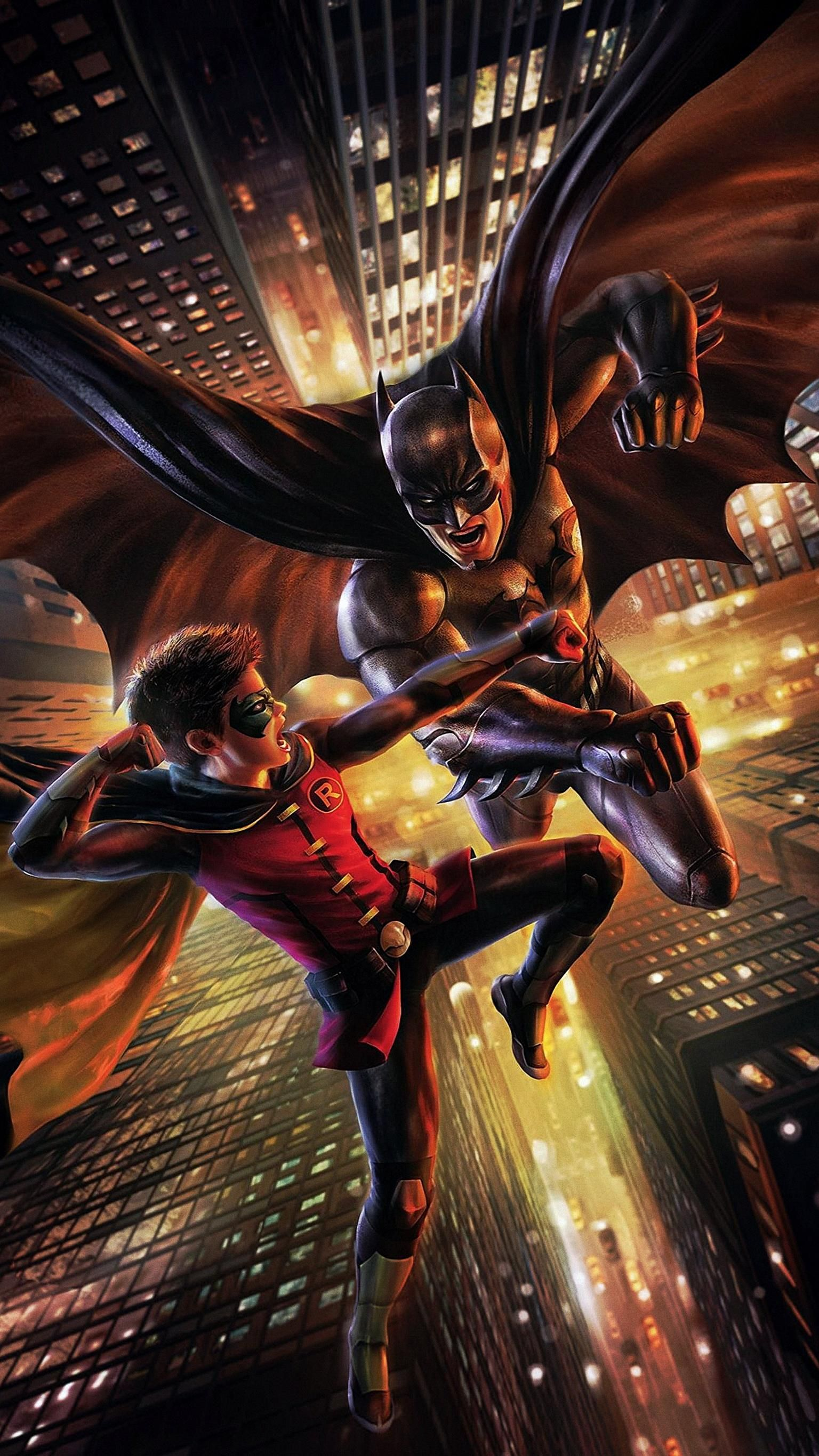 Batman Vs Robin 2015 Phone Wallpaper Moviemania Batman Vs Robin Batman Artwork Batman Vs