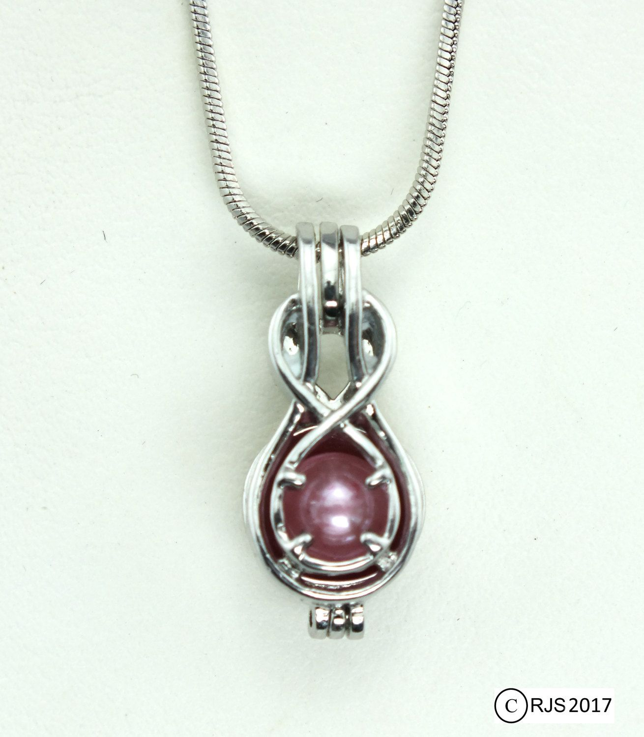Love Pearl In Clamshell Locket & Silver Necklace Happy Birthday WY0Gw