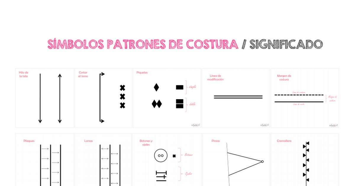 simbolos patrones costura Skarlett.pdf | Costura