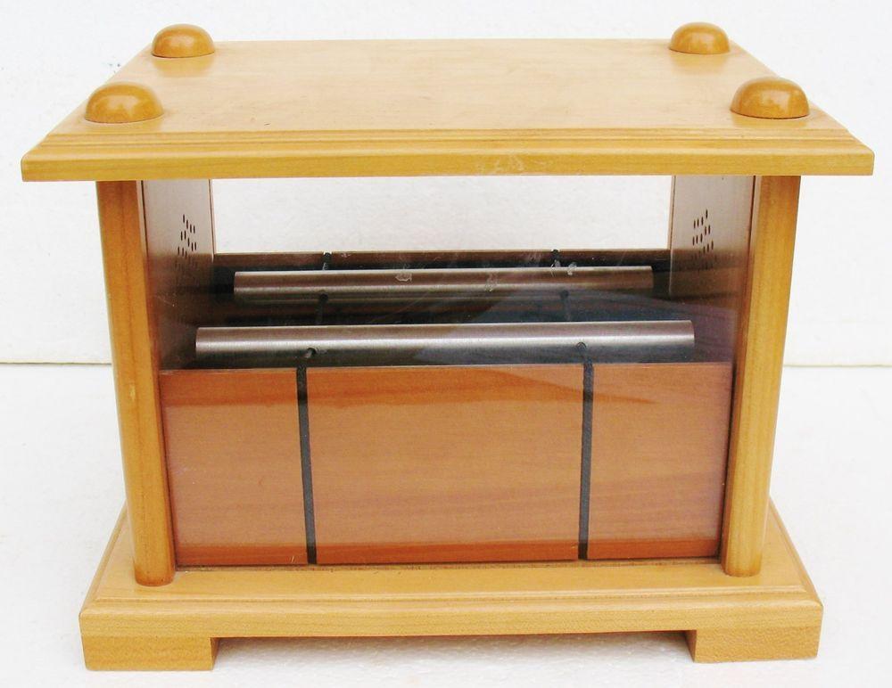 Wood Zen Falling Rain Nature Chimes Windless Bells Gravity Chime Box
