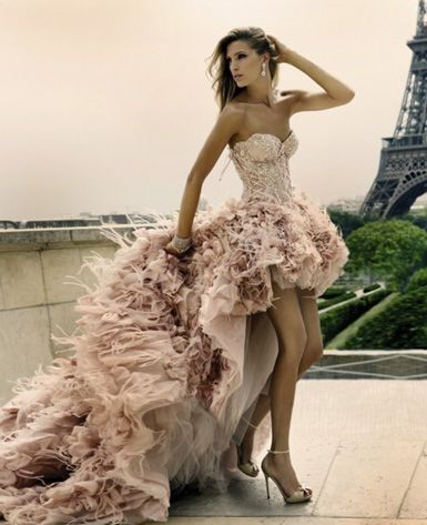couture pink dress