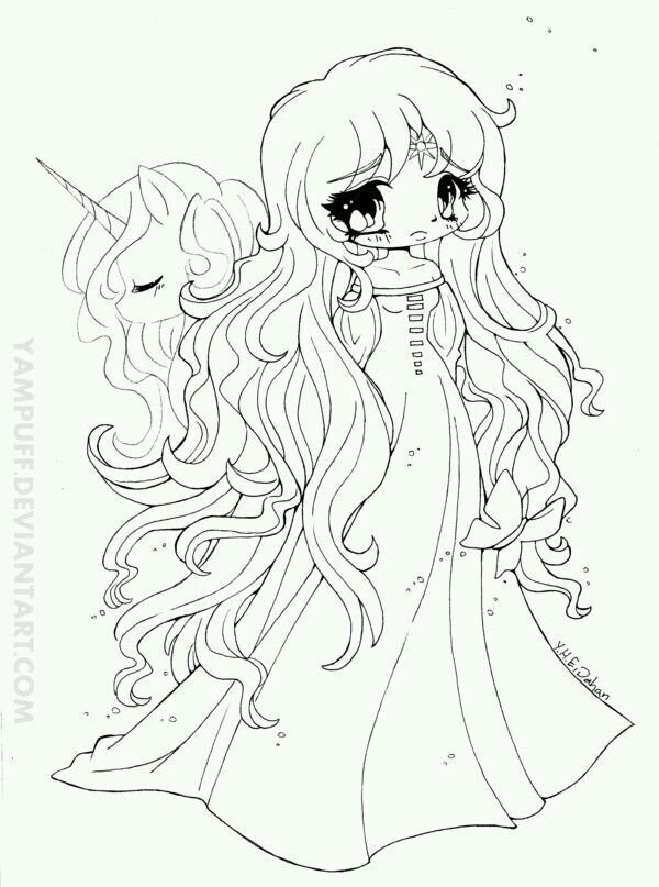 Personnage Unicorn Coloring Pages Chibi Coloring Pages Coloring Pages