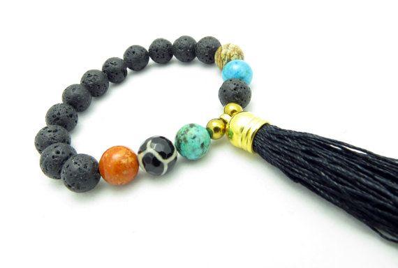 Onyx Tassel Expressions Bracelets Beaded by ExpressionsBracelets