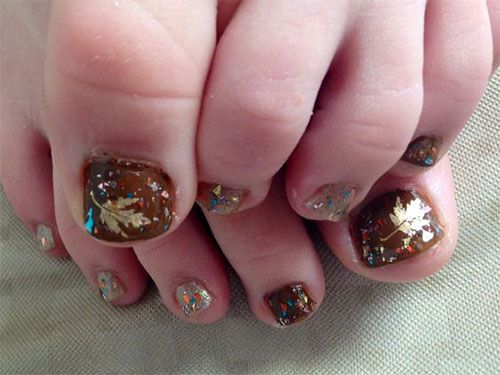 Feet should not be treated any less because they too are a pivotal check out this collection of autumn toe nail art designs ideas of prinsesfo Images