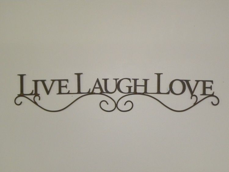 Metal Wall Word Signs Beauteous Details About New French Country Live Laugh Love Black Metal 2017