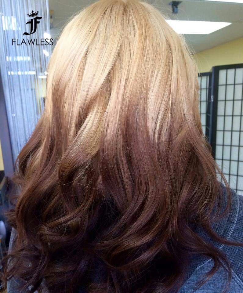 Reverse Ombre Hair Styles Ombre Hair Color Brown To