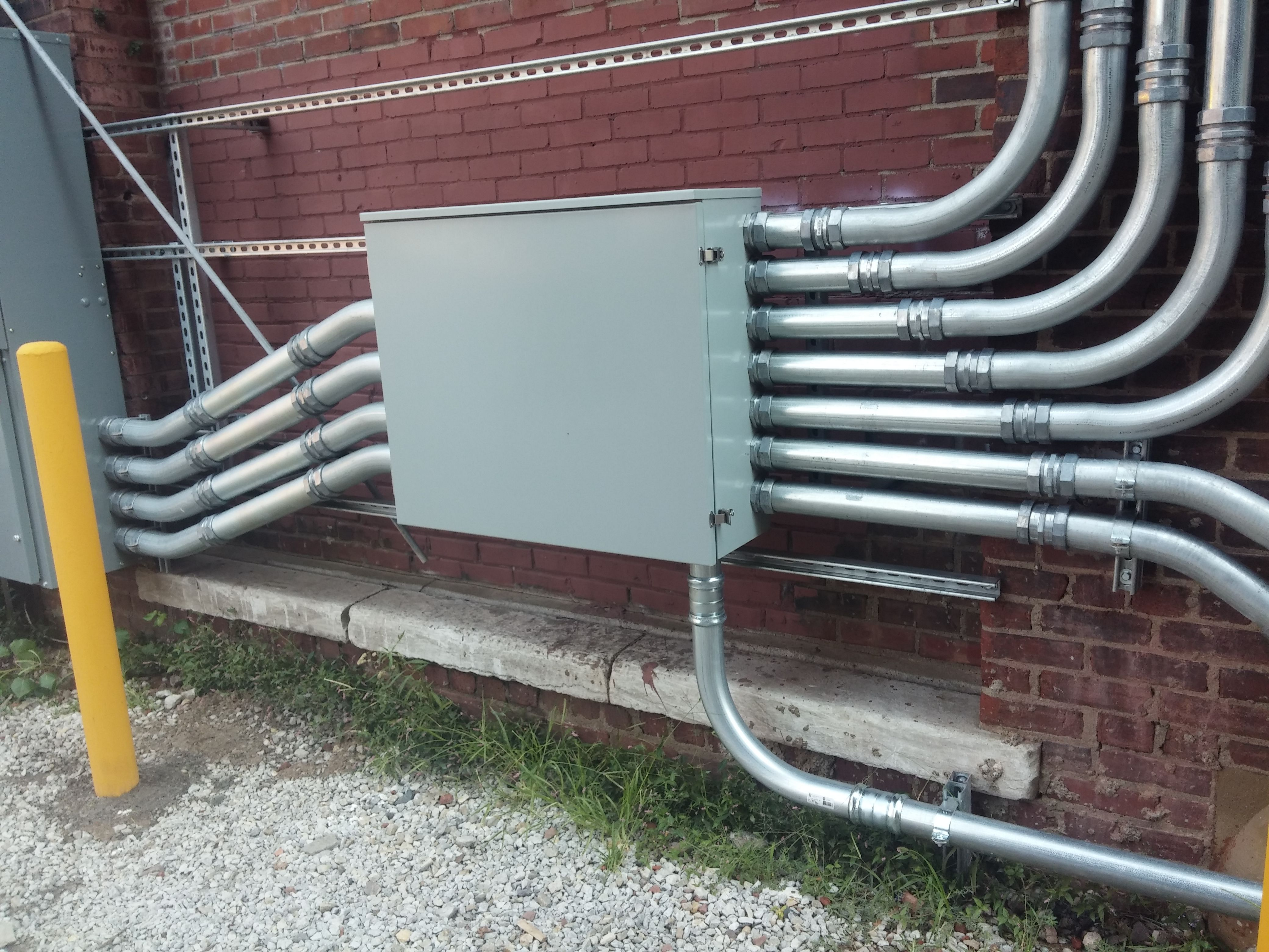 Electrical box with metal conduit #electrical #panel #conduit ...