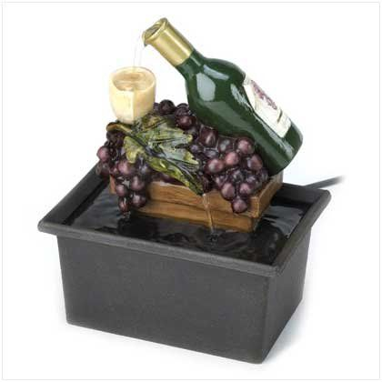 Winery Indoor Table Top Water Fountain Home Decor Gift Kitchen