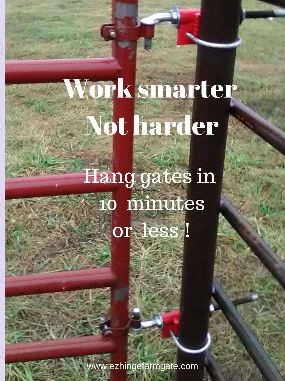Adjustable No Drill No Weld Farm Gate Hinges Fencing Gate Hinges Farming Livestock Www Ezhingef Horse Fence Panels Chain Link Fence Gate Farm Fence