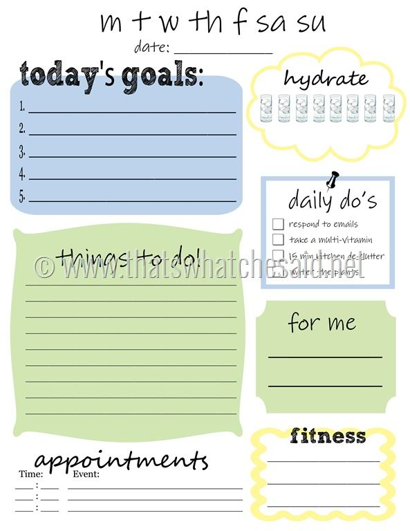 Pin by Joanne on Printable templates Organization, Printables