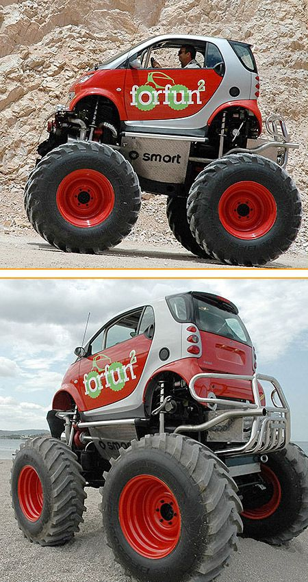 smart monster truck me gusta pinterest voiture v hicules et voitures et motos. Black Bedroom Furniture Sets. Home Design Ideas