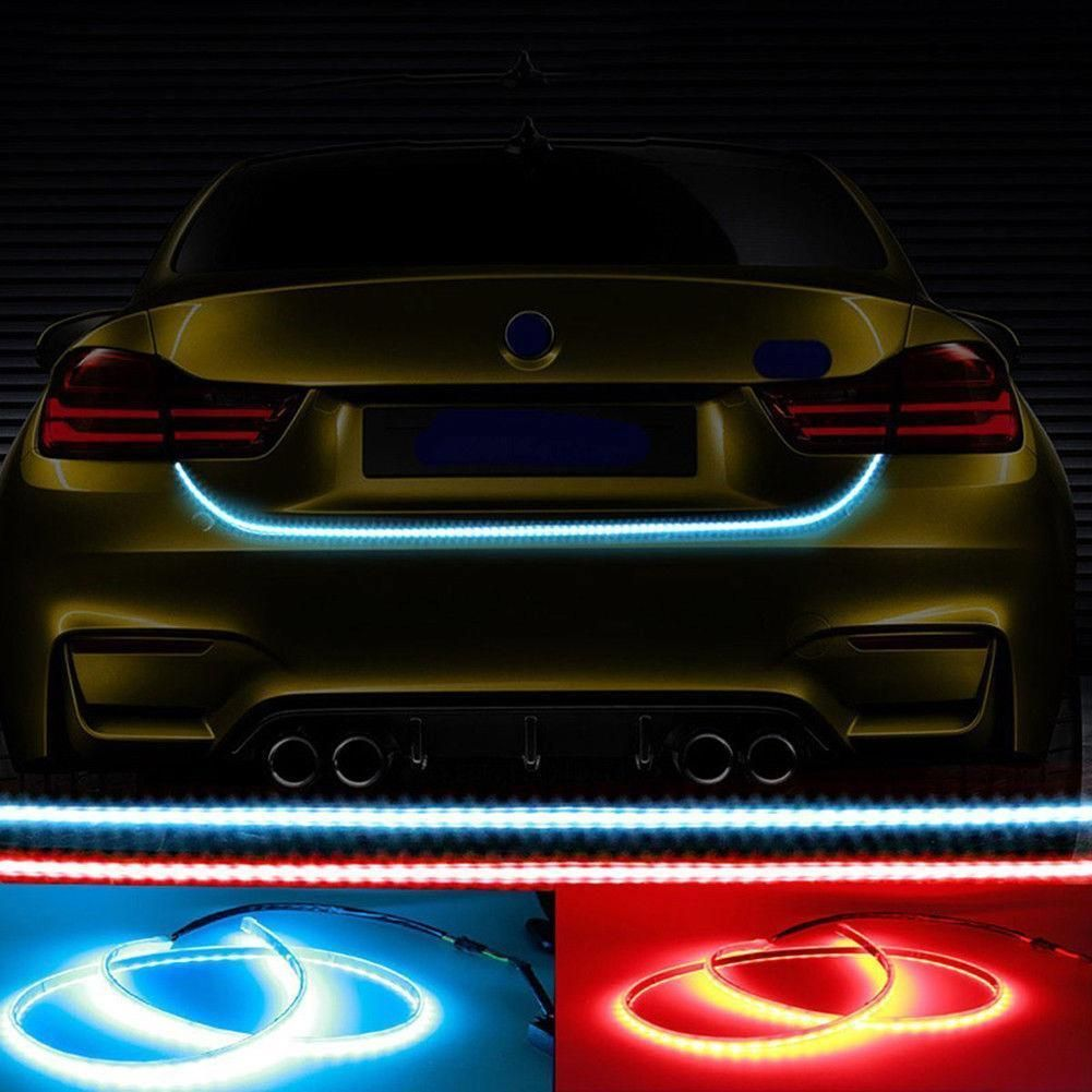 Led Light Strips For Cars Cool $852  150Cm Car Rgb Led Light Strip Rear Trunk Tail Dynamic Inspiration