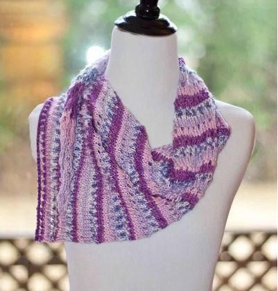 Asymmetrical Stripey Scarf Knitted Scarf Patterns Cowls