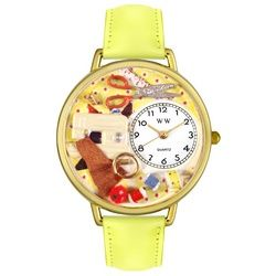 Sewing Yellow Leather And Goldtone Watch #G0450001 - http://www.artistic-watches.com/2012/11/26/sewing-yellow-leather-and-goldtone-watch-g0450001/