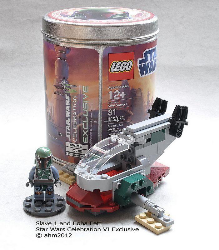CUSTOM LEGO STAND CHOICE LEGO Star Wars MINI SLAVE ONE BOBA FETT/'s SHIP 2012