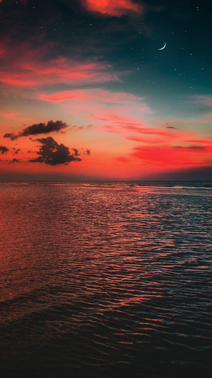 In The Night Sky With Images Night Sky Wallpaper Sunset Wallpaper Beach Sunset Wallpaper