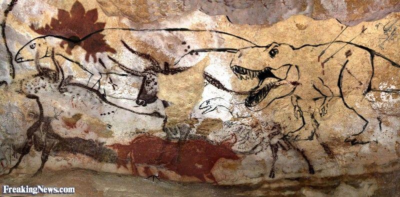 dinosaur art | Dinosaurs in Paleolithic Art | Smile fodder ...