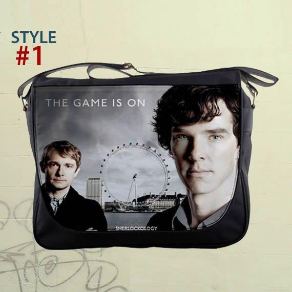 "Sherlock Holmes - Benedict Cumberbatch 14"" Messenger Bag Shoulder Sling School Laptop Notebook School Bags {B13}"