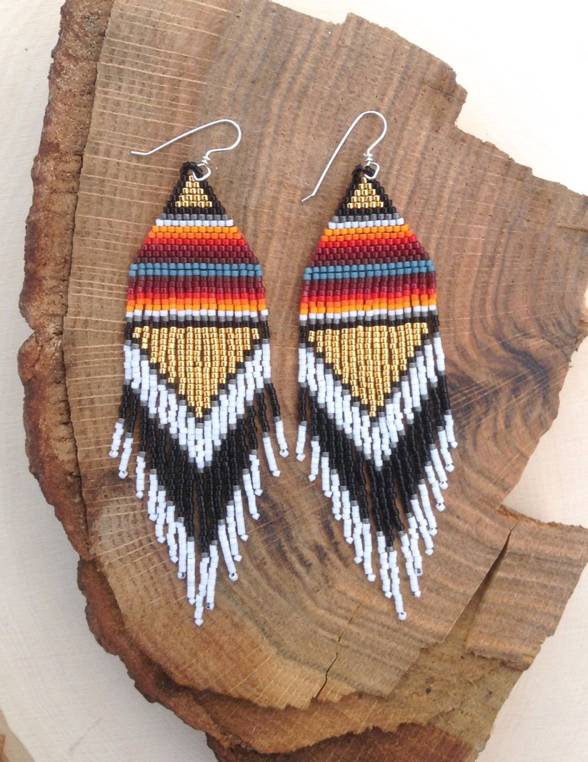7faaa723f3b20 Gold Tri-Power Earrings- Made to Order | Tissage | Boucle d'oreille ...