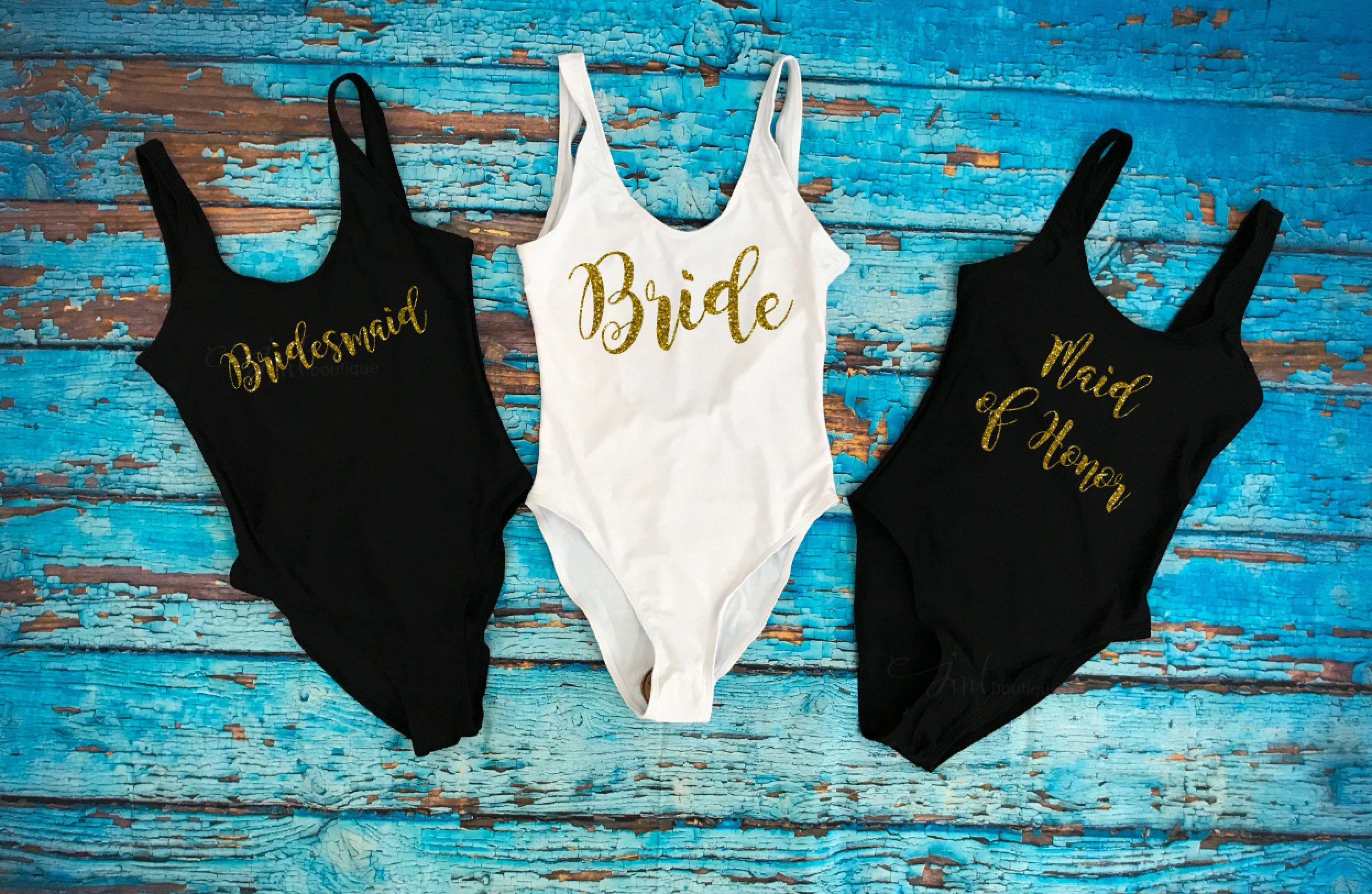 59d1b38a7f261 Bride Swimwear. Squad Swimwear. Bridesmaid Gift. Bride Squad Bathing Suit. Bride  Bathing suit. Honeymoon. Bridal Bathing suit. Swim Suit by JMTboutique on  ...
