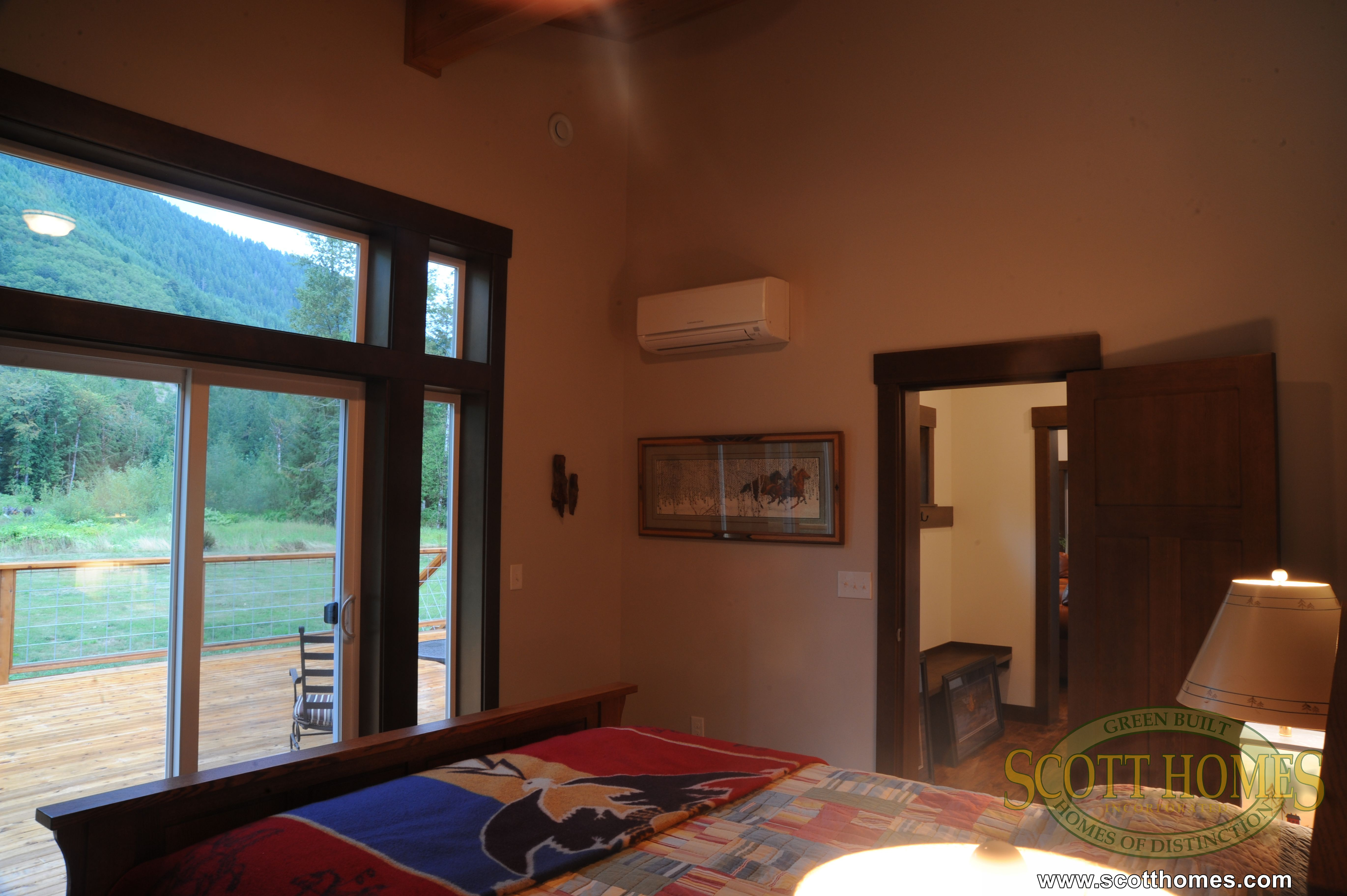 The Master Bedroom Right Off The Foyer Has A Ductless Heat Pump