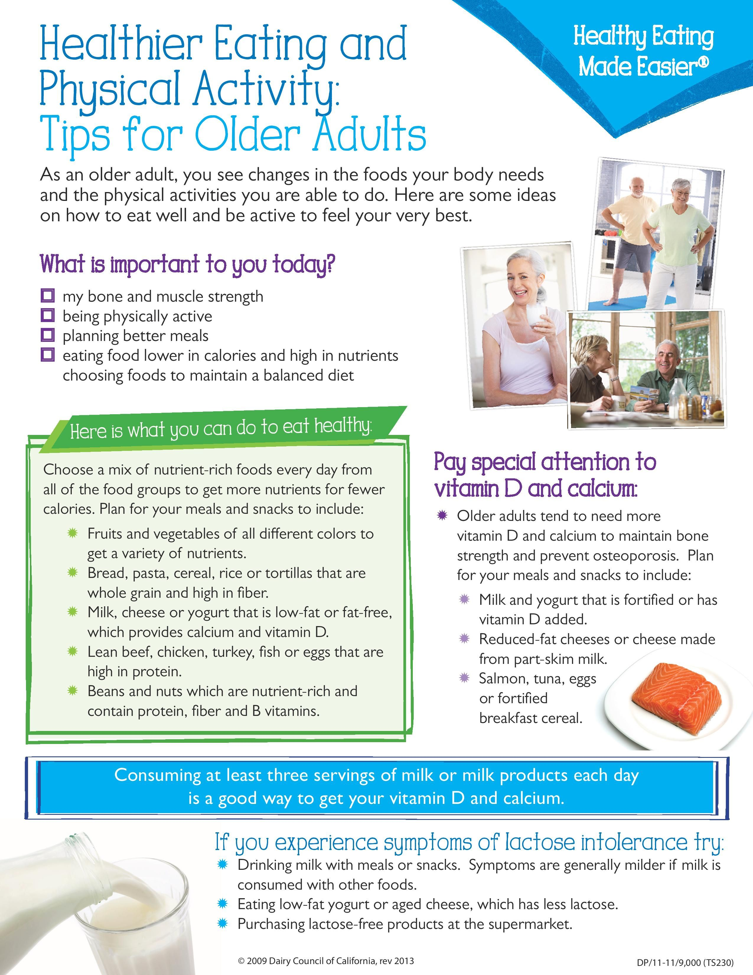 For Adults Physical activities, My plate, Older adults