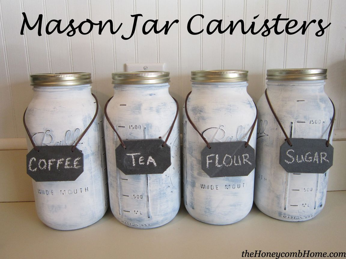 mason jar canisters craft mason jar crafts and organizations diy mason jar canisters