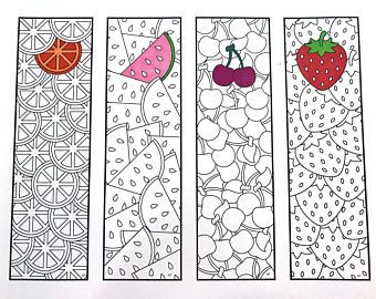 Cute Animal Bookmarks - PDF Zentangle Coloring Page #insects
