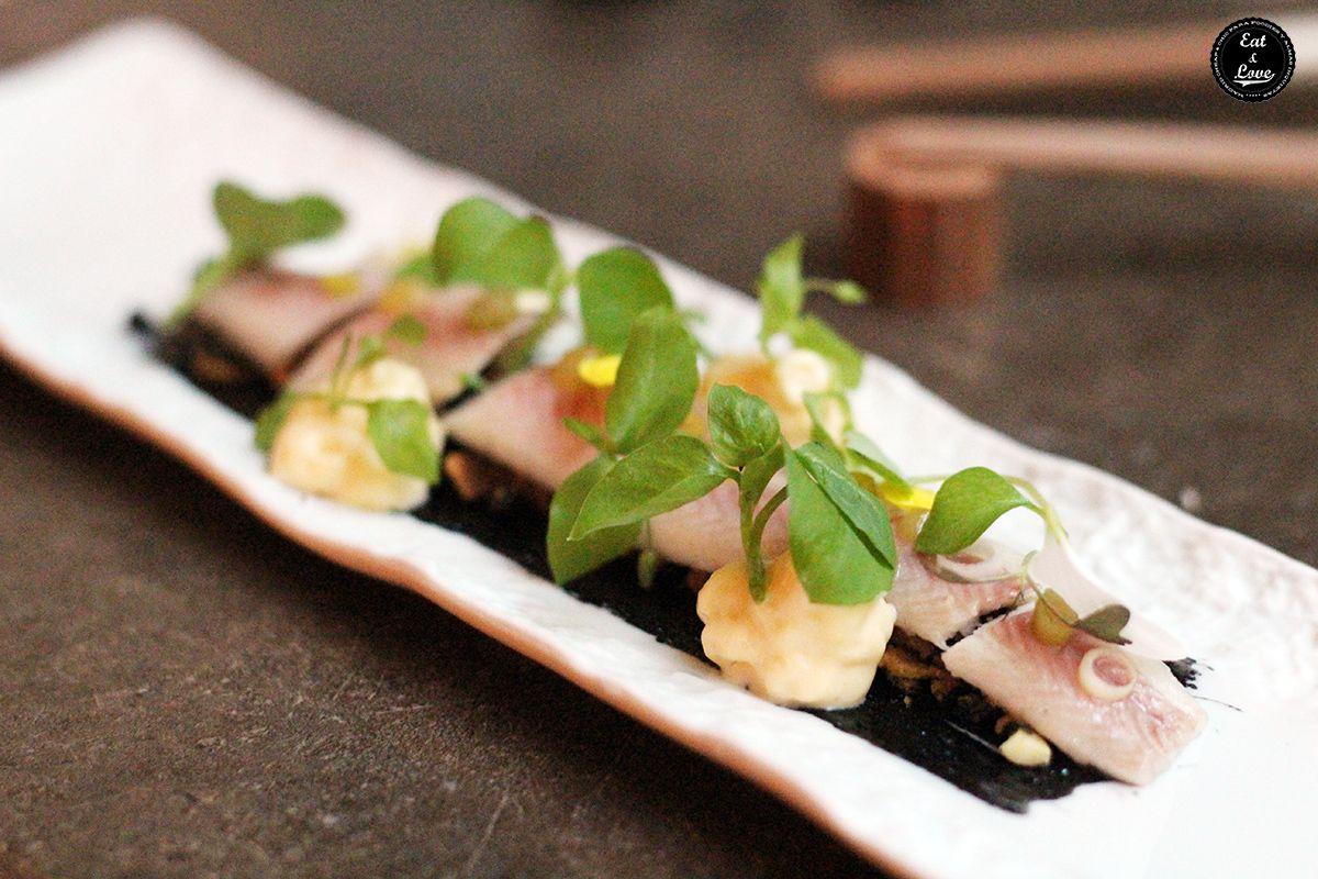 Anguila ahumada - 47 ronin restaurante japonés Madrid