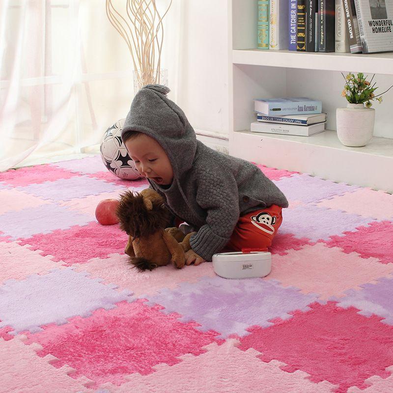Baby EVA Foam Plush Puzzle Play Mats 6pieces/lot Interlocking ...