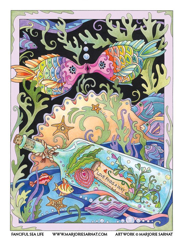 Kissing Fish Fish Illustration Funky Art Fish Art