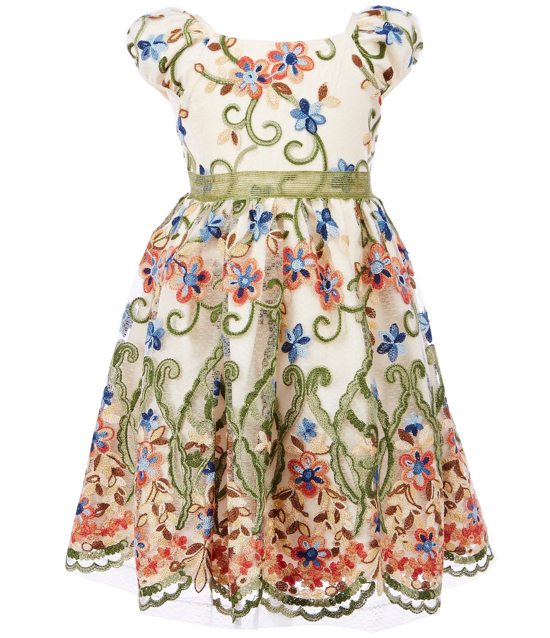 b81d4110aa Shop for Pippa   Julie Little Girls 2T-6X Floral Embroidery Fit-And-Flare  Dress at Dillards.com. Visit Dillards.com to find clothing