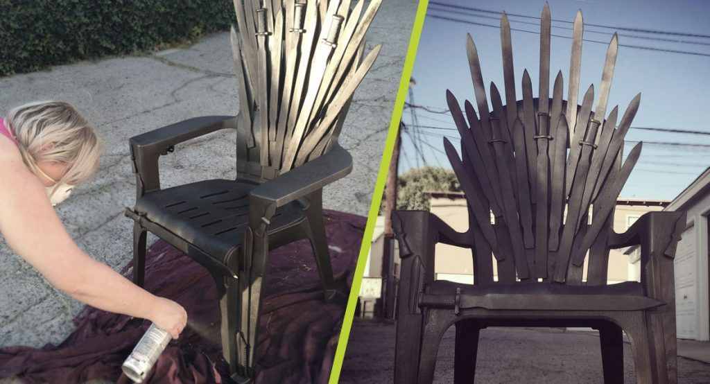 Game Of Thrones Office Chair Stair For Sale Diy Iron Throne Make Your Own Next Party