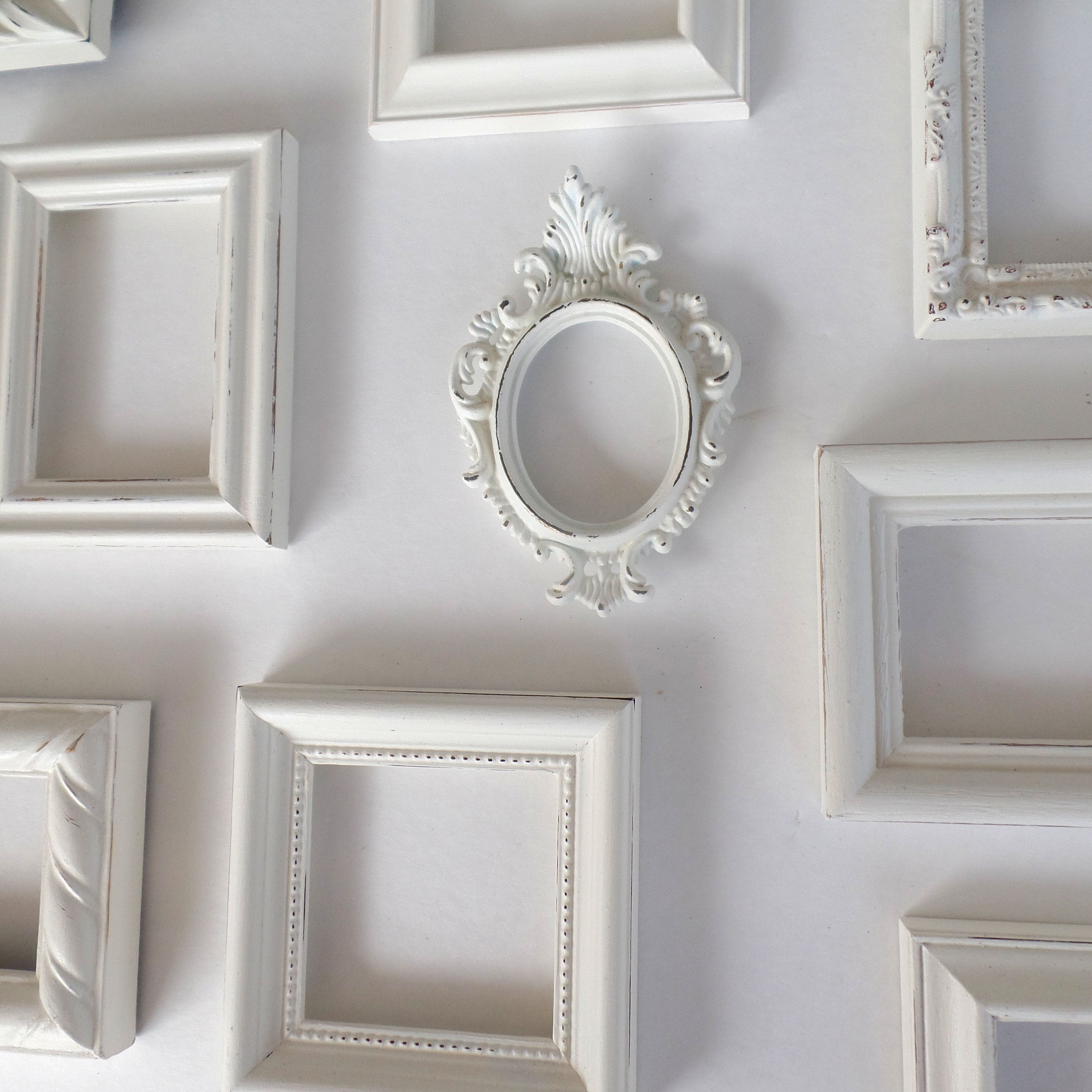 CollectiveWhite Shabby Chic Picture Frame Set - Farmhouse Decor ...