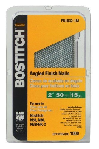 Bostitch Fn15321m 2inch 15gauge Fn Style Angled Finish Nails 1000 Per Box To View Further For This Item Visit The Image Link Note Am Finishing Nails Air Tools Power Hand Tools