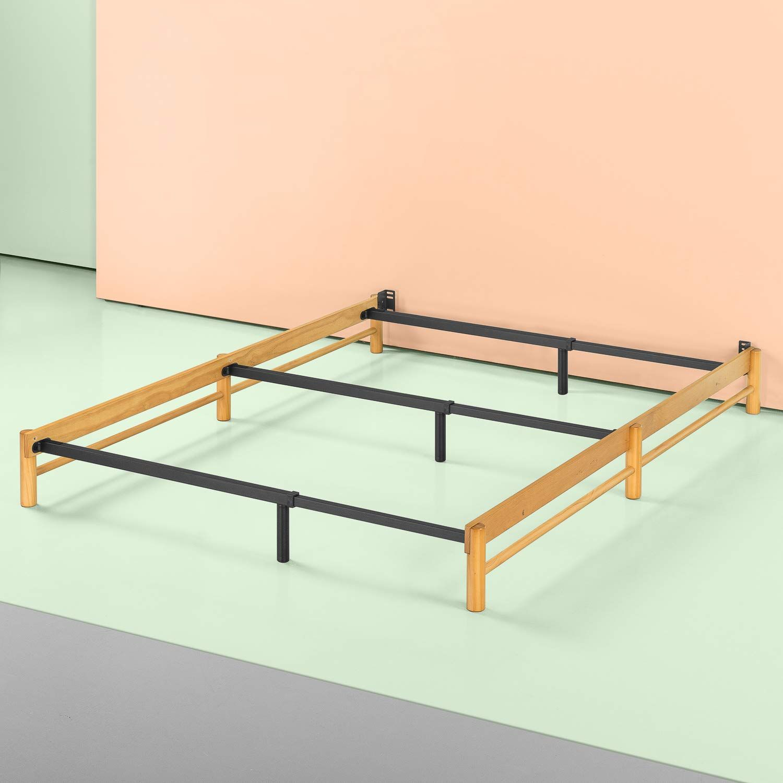 Amazon Com Zinus Newport Adjustable Wood Compack Bed Frame Full
