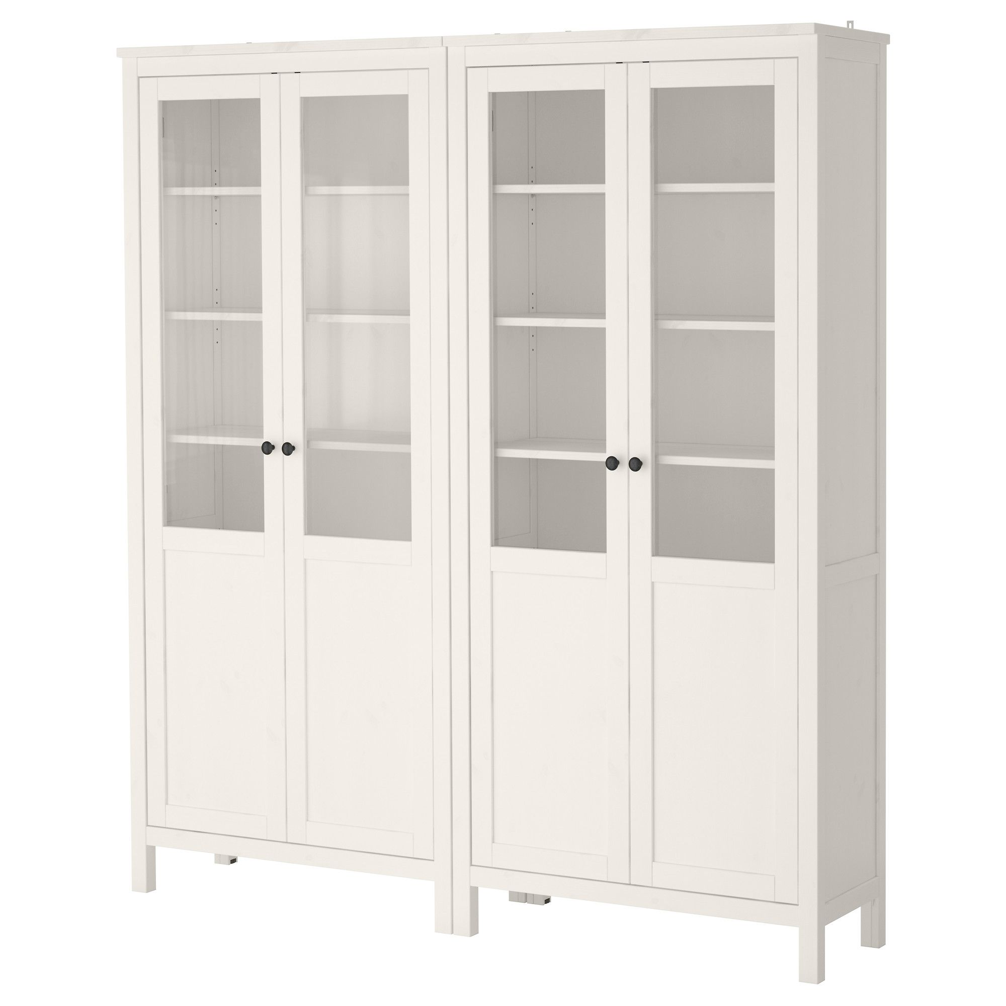 hemnes storage combination w glass doors white stain ikea for the house ikea kitchen. Black Bedroom Furniture Sets. Home Design Ideas