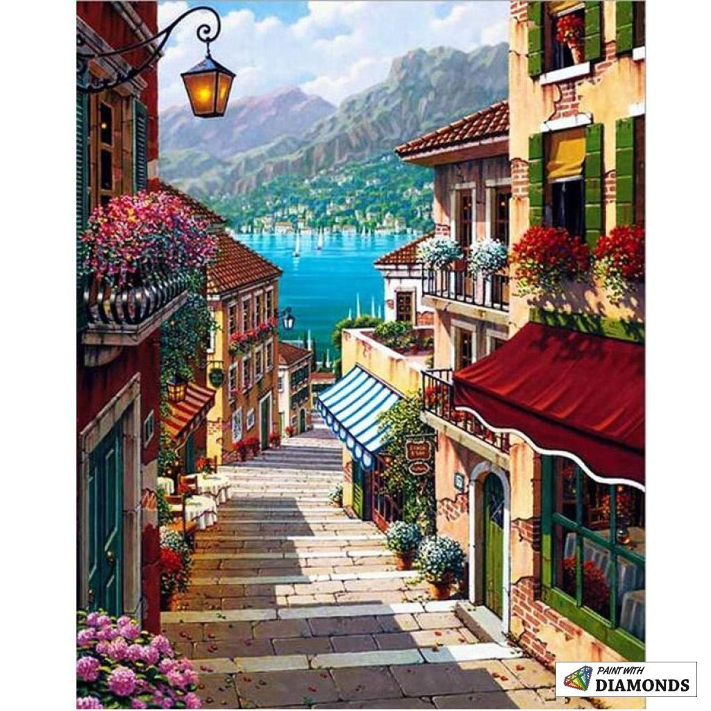 Stairway To Heaven Art Pictures Paint By Number Canvas Painting