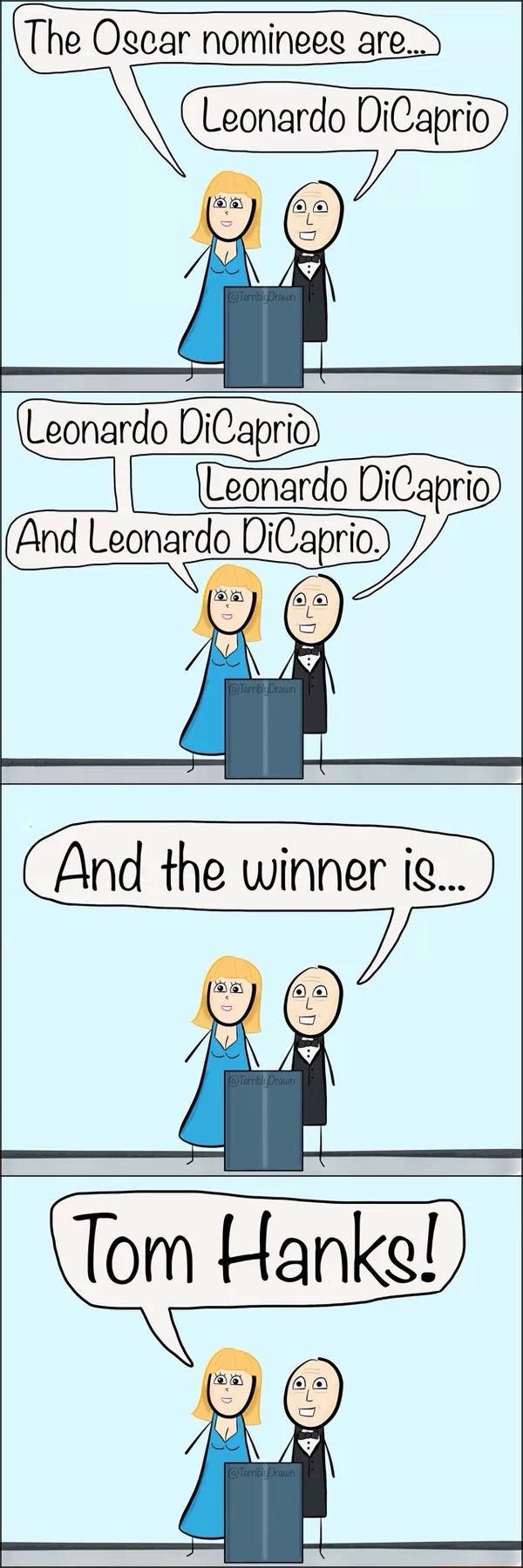 The Oscars poor Leo!