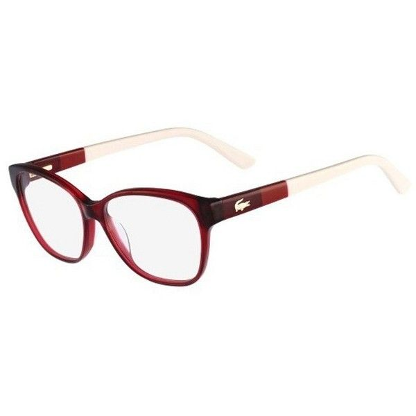 a6a6dee3a5b ... Lacoste L2712 615 Red Frame Eyeglasses (190 CAD) ❤ liked on Polyvore  featuring accessories ...