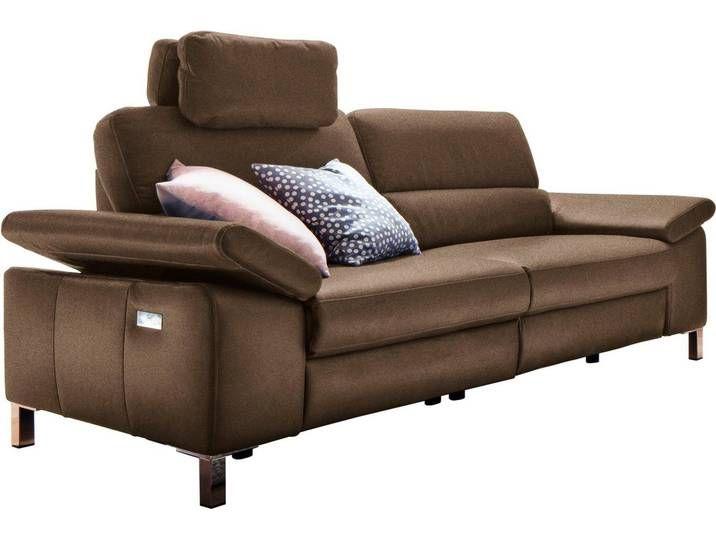 2 Sitzer Constanze Braun Mit Teilmotorischer Relaxfunktion Rechts Incl 1 Multifunktions Kopfstutze 179cm Delavita Relaxen 3 Sitzer Sofa Wohnen