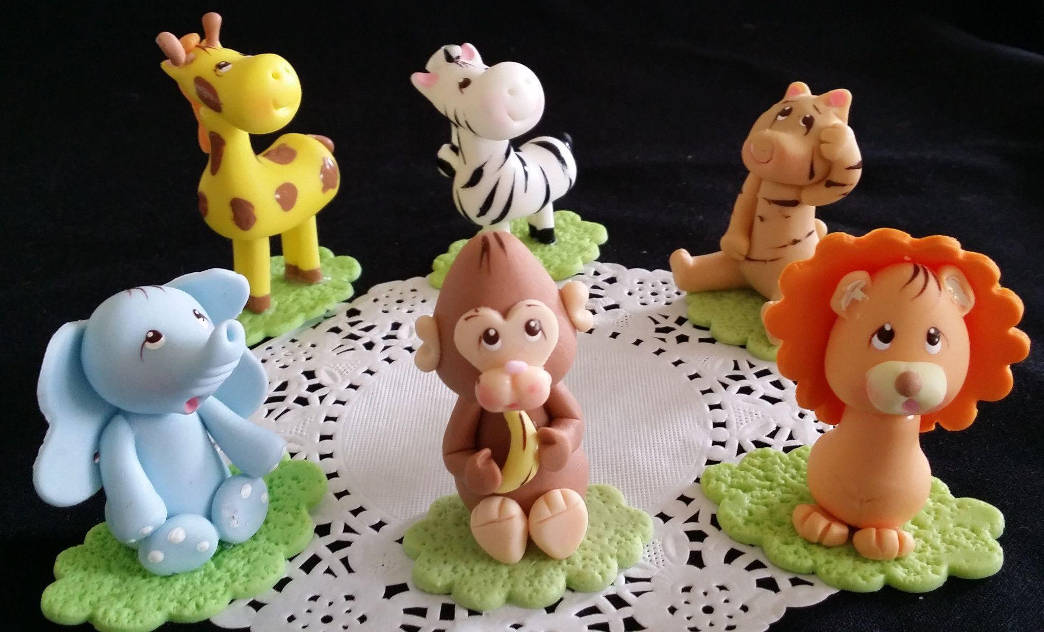 LION GIRAFFE MONKEY ELEPHANT NOAH/'S ARK CAKE TOPPER EDIBLE  JUNGLE ANIMALS