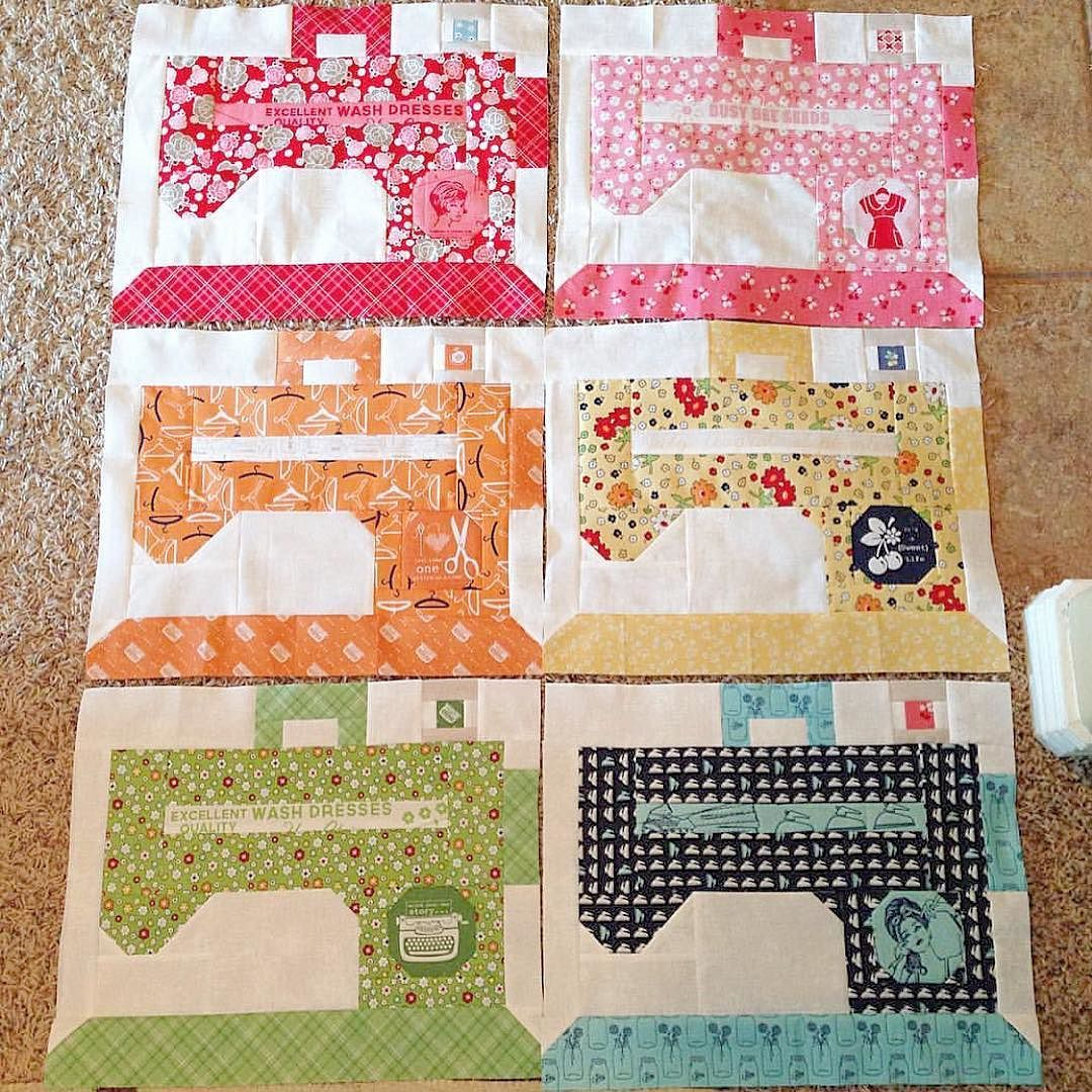 "Looky at my friend @crosshatchquilts blocks from my ""Sew Day"" pattern and Bee in my Bonnet fabrics!! They are sew cute Kristie!!! #beeinmybonnet #sewdayquilt #iloverileyblake by beelori1"