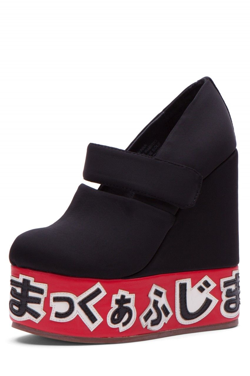 outlet store 81d2c 057c8 Jeffrey Campbell Shoes WAKA New Arrivals in Black Neoprene Red