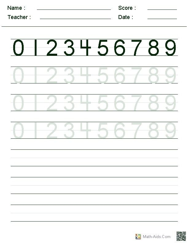 Number Tracing 1 to 10 Free Printable Worksheets – Free Printable Kindergarten Worksheets Alphabet