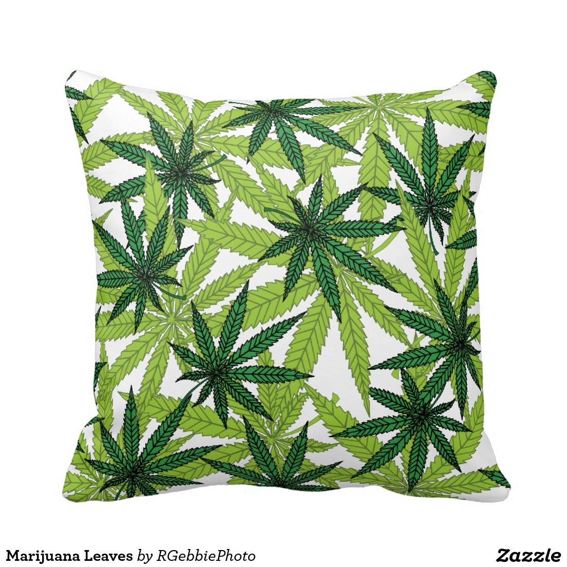 Marijuana Leaves Pillows. Accent your home with custom polyester ...