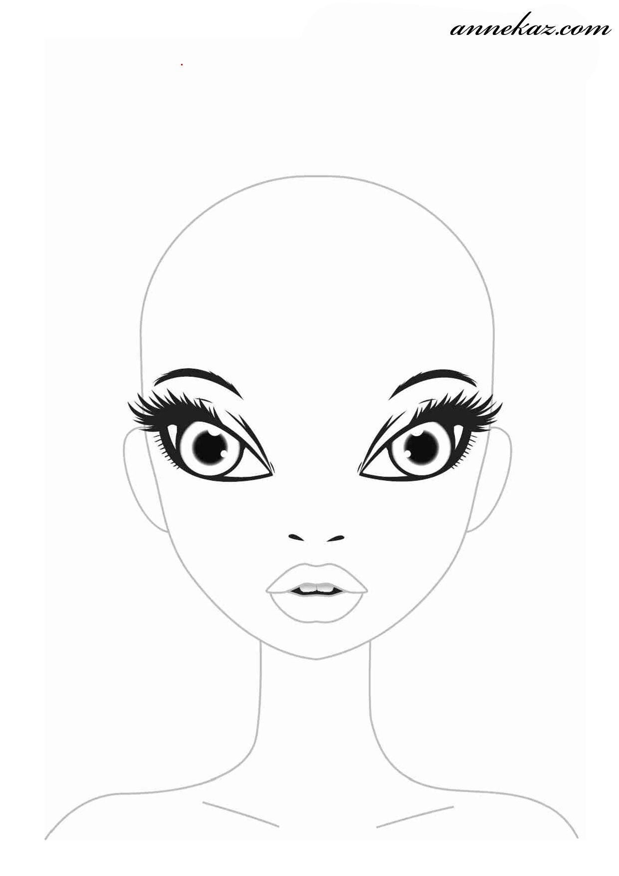 Kızlar Için Boyama Sayfaları Doll Face Painting Doll Face Paint