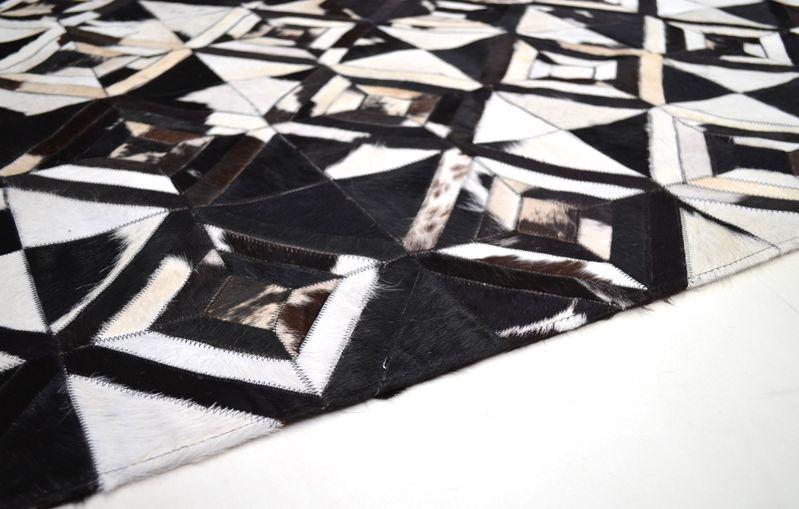 Cowhide Hallway Runner Diamond Black And White Funky Rugs