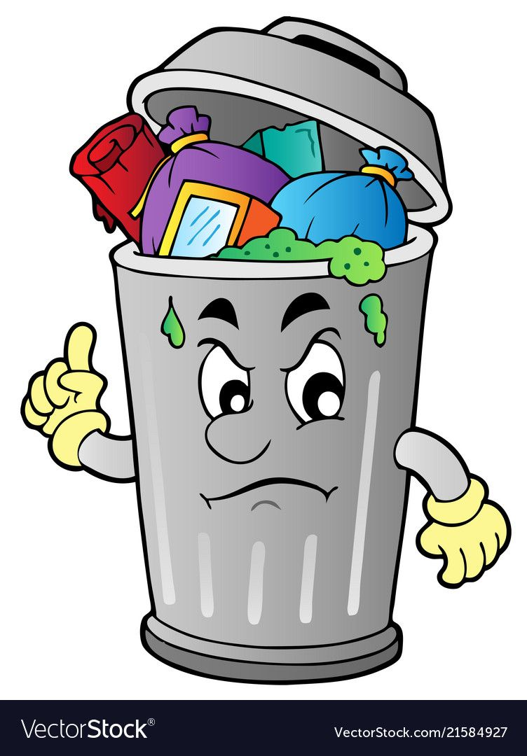 Angry Cartoon Trash Can Vector Illustration Download A Free Preview Or High Quality Adobe Illustrator Ai Eps Pdf And Angry Cartoon Plexus Products Cartoon
